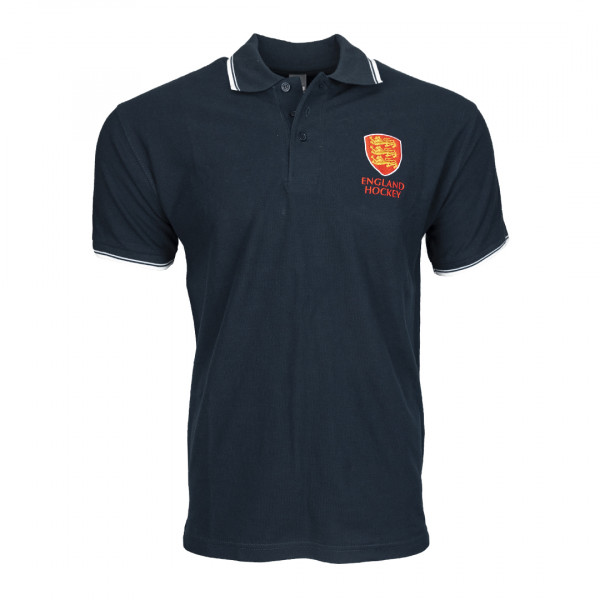 England Hockey Men's Cotton Polo Navy